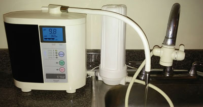 IE-900 water ionizer and prefilter